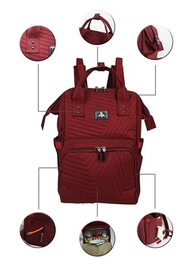 Stylo Stylo Tokyo Platinum All in One Special Edition Backpack Bordo